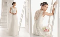 Aire Barcelona 2014 tulle empire wedding dress
