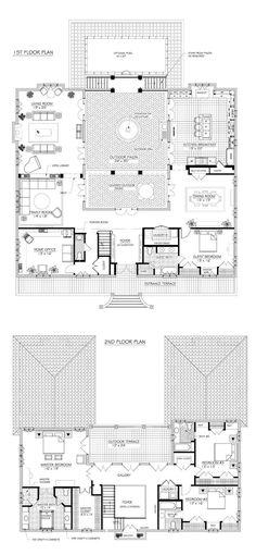 French House Plans, House Plans One Story, Dream House Plans, U Shaped Houses, U Shaped House Plans, The Plan, How To Plan, Unique Floor Plans, Unique House Plans