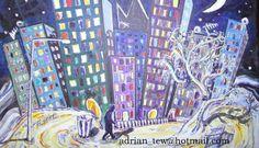 City at Night - ebay auction £9.99 start price