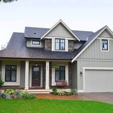 Home with james hardie pearl gray siding charcoal gaf for Allura siding vs hardie siding
