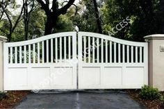 These white gates look smart