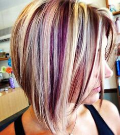 Highlights blond and purple