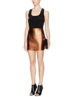 Phaedra Metallic Leather Skirt...BozBuys Budget Buyers Best Brands! ejewelry & accessories...online shopping http://www.BozBuys.com