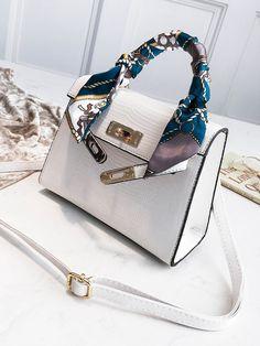Women,Pigs,Twilly Handbag Handle Silk Scarf Bracelet