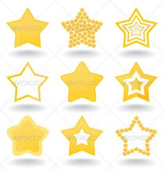 Icon a star  #GraphicRiver         Set of icons of gold stars. A vector illustration     Created: 15September11 GraphicsFilesIncluded: VectorEPS #VectorEPS Layered: No MinimumAdobeCSVersion: CS Tags: design #elements #geometric #graphic #icon #illuminated #illustration #image #painting #part #seal #shape #sign #single #stamper #star #symbol #vector