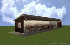 Run - Ins - Horse Sheds -Designs - View Our Plans - Ga Barn company