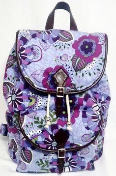 Moda Feminina, Mochila Lilás Floral para o dia a dia, escola, universidades, faculdades, passeio, viagens e muito mais...