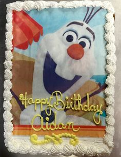 Frozen Image Birthday Sheet Cake