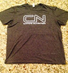 Caito's Nutrition GymWear Printed on an Anvil Heathered Grey Men's Large T-shirt