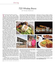 Susan Benton-@30AEATS.com Article in Thirty -A Review on 723 Whiskey Bravo.