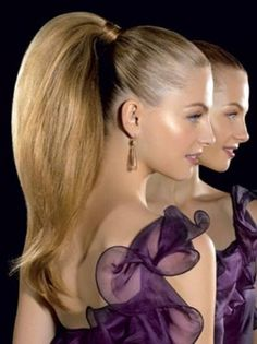 volumized ponytail