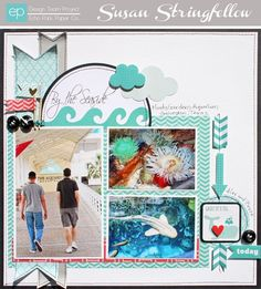 Layout from Totally Teal Mini Theme by designer Susan Stringfellow. #echoparkpaper
