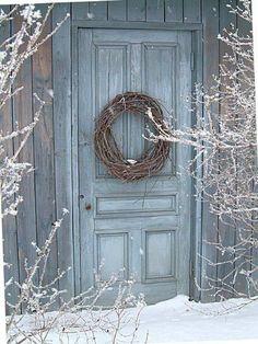 winter~ door decor