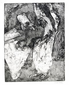 Emil  Nolde (1876-1956), Scholars Dispute (Gelehrtenstreit), etching and aquatint (tonal effects), 1922