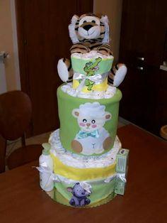 Torta di pannolini diaper cakes