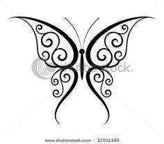 Creative Tattoos Design Ideas Tattoo Designs by Kool Design Maker This would be cool if it was in white ink!Tattoo Designs by Kool Design Maker This would be cool if it was in white ink! Tribal Butterfly Tattoo, Butterfly Stencil, Butterfly Tattoo Designs, Butterfly Wings, Butterfly Design, Butterfly Outline, Simple Butterfly Drawing, Swirly Tattoo, Flower Designs