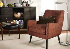 Quinn Chair & Ottoman in Tamm Fabric - Chairs - Living - Room & Board