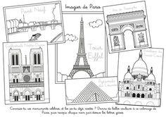 Coloriage à imprimer : Imagier de Paris