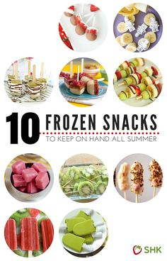 10 Frozen Snacks to Keep On Hand All Summer | Healthy Ideas for Kids