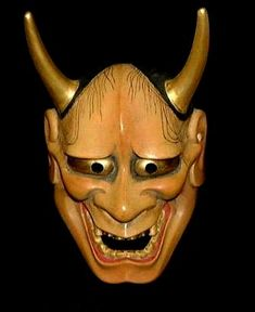 A Hannya mask from Japanese Noh theatre. A kind of female demon