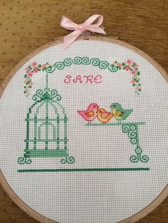 Cross stitch kanaviçe kuş