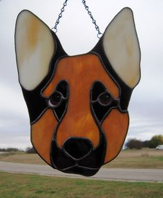 Stained Glass German Shepherd by LedByGlass on Etsy