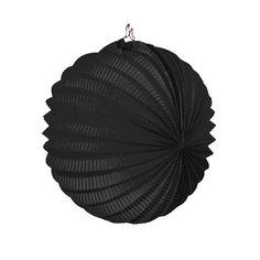 Un farolillo de papel negro para decorar fiestas - de www.fiestafacil.com, $0.85 / A black paper lantern for party decorations, from www.fiestafacil.com