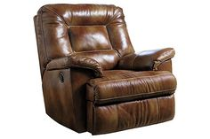 The Blanchard Recliner from Ashley Furniture HomeStore (AFHS.com). Leather Match upholstery features top-grain leather in the seating areas with skillfully matched vinyl everywhere else.