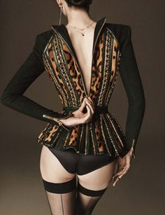 Larissa Hofmann wears Balmain by Claudia Englmann & Giampaolo Sgura for Vogue Germany, December 2014.