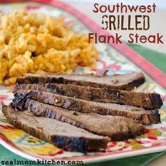 Southwest Grilled Flank Steak | realmomkitchen.com