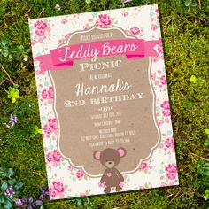 Hey, I found this really awesome Etsy listing at https://www.etsy.com/listing/166187773/teddy-bear-picnic-party-invitation