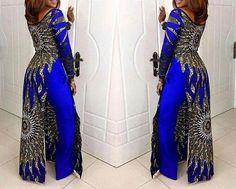 Ensemble robe imprimé africain et pantalon / Pantalon jambe