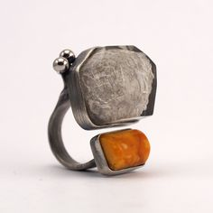 resin, amber, stone, silver Design Julia Tusz and Sylwia Calus