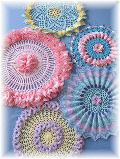 Ruffles /& Roses Doily Crochet Pattern Elegant Ruffles Doilies HOWB Series