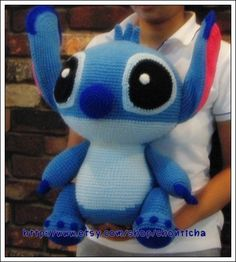 STITCH 20 inches - PDF amigurumi crochet pattern by Chonticha on Etsy https://www.etsy.com/listing/77064216/stitch-20-inches-pdf-amigurumi-crochet
