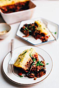 Vegan Lentil Moussaka - Golubka Kitchen