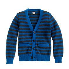 Boys' stripe cotton cardigan