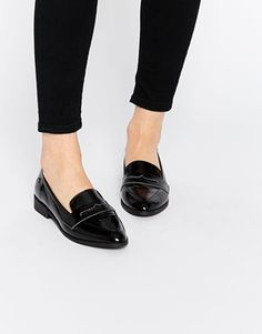 ASOS - Blink Black Flat Loafer Shoes