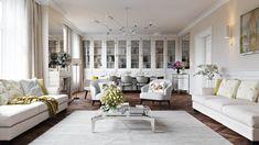 Interior Rendering Services: Utterly Elegant Living Room Project | ArchiCGI