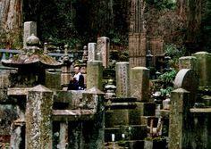 monk in Koyasan Cemetery, Japan