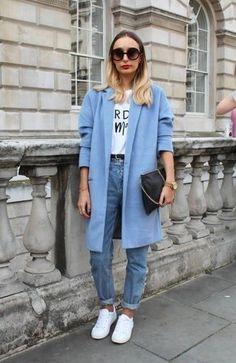 Cómo combinar un abrigo celeste en 2016 (41 formas) | Moda para Mujer