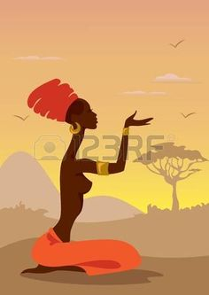 Find african silhouette stock images in HD and millions of other royalty-free stock photos, illustrations and vectors in the Shutterstock collection. Thousands of new, high-quality pictures added every day. African Paintings, Easy Paintings, African American Art, African Women, Tribal African, Art Drawings Sketches Simple, Easy Drawings, African Wall Art, Light Tattoo