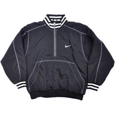 Vintage Nike Windbreaker, Swoosh, Half Zip, Pullover, Big Logo,... ($35) ❤ liked on Polyvore featuring activewear, activewear jackets, nike sportswear, nike pullover, half zip pullover, nike and vintage pullover