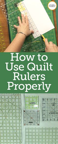 Quilting rulers come in all different sizes and shapes. Heather Thomas will teac… Quilting rulers come in all different sizes and shapes. Heather Thomas will. Quilting Rulers, Quilting Tips, Quilting Tutorials, Quilting Projects, Sewing Tutorials, Quilt Baby, Sewing Hacks, Sewing Crafts, Sewing Tips