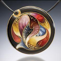 Mandala Necklace, Modern Art Jewelry by Sheila Beatty