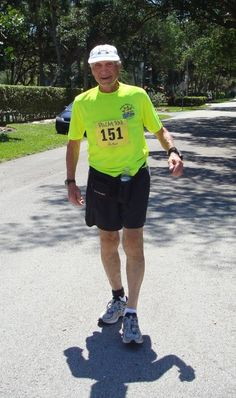 interview with a nutritarian: Augie. he follows Dr. Fuhrman's recommendations as outlined in Eat to Live. in 2012, at the age of 82, Augie finished his first 50K run (31 miles).
