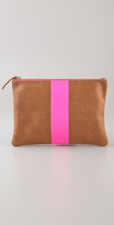 neon stripe clutch