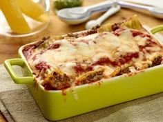 Beef and Cheese Manicotti from CookingChannelTV.com