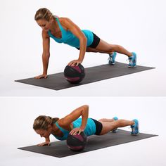 medicine ball pushup