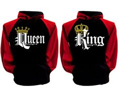 Looking for AMS Couple Matching King Queen Crown Raglan Hoodie Pullover Hooded Sweatshirt ? Check out our picks for the AMS Couple Matching King Queen Crown Raglan Hoodie Pullover Hooded Sweatshirt from the popular stores - all in one. Matching Hoodies For Couples, Matching Couple Outfits, Black And Red Hoodie, Cute Couple Shirts, Family Shirts, King Shirt, King Queen, Queen Crown, Sweater Hoodie